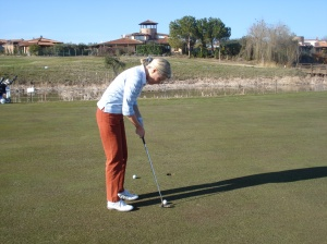 Erste 18-Loch-Golfrunde 29. Februar 2012 Golfclub Pescara, Italien (19. Woche nach 2. Hüft-OP)