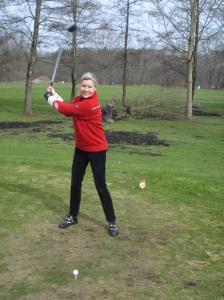 Mein erster Abschlag in der Golfsaison 2013 am 17. März.