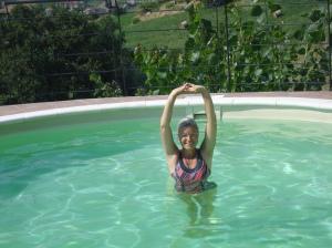 Gymnastik im Wasser - wie herrlich!