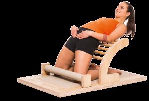 Da wird der Hüftbeuger gedehnt: Übungen auf dem Five-Hip-Mover.