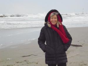 Silvester2014 am Adriastrand von Cupra Marittima: Gischt wie an der Nordsee!