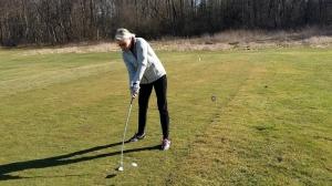Noch etwas dick angezogen, aber die Golfsaison kann beginnen!