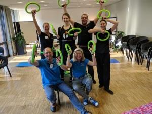 Glückliche Autoren/Organisatoren und glückliche Trainer nach einem gelungenen Workshop