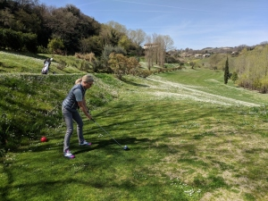 Frühlingsrunde im Golfclub I Lauri am 3. April 2018
