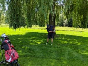 Bewegung unter Bäumen: Golfspielen trainiert die verschiedensten Muskeln.