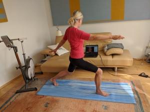 Yoga-Übung Krieger